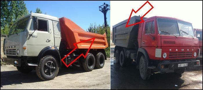 Отличия кузовов автомобилей КамАЗ