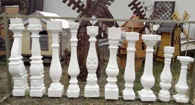 По длине балясины из бетона могут иметь любую конфигурацию