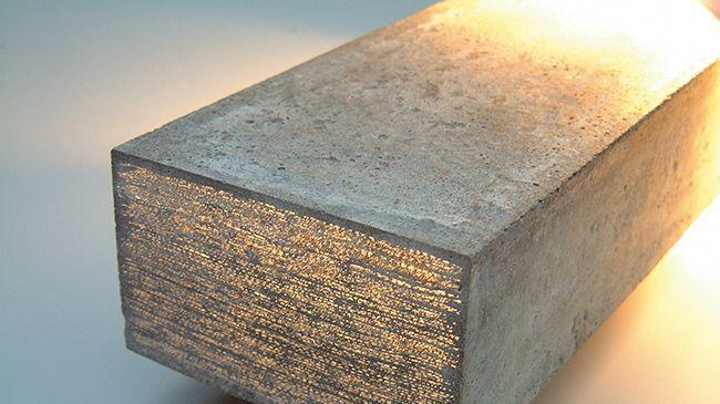 Блок из прозрачного бетона