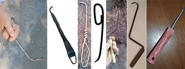 Варианты изготовления крючков