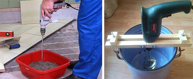 Самодельный миксер не подходит для перемешивания бетона
