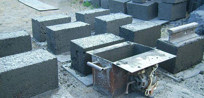 Для изготовления блоков используют формы