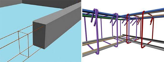 Армокаркас состоит из продольных и поперечных металлических прутьев