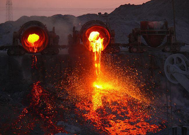 Получения шлака цветной металлургии