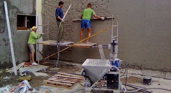 Использование штукатурной станции увеличивает производительность труда