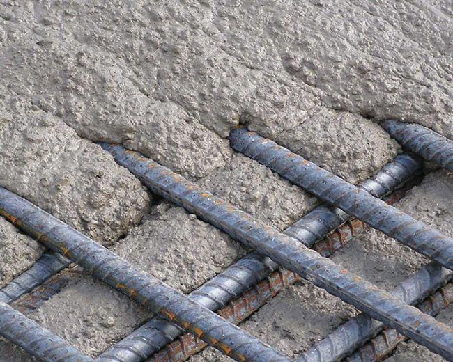 Сцепление бетона с арматурой
