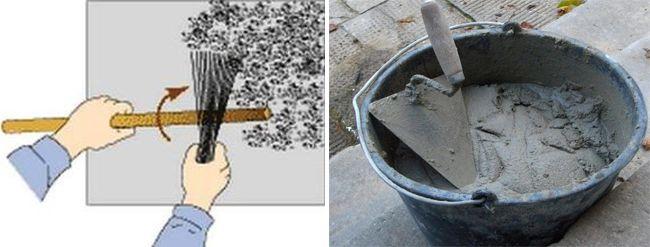 Перед началом работ на стену стоит нанести цементную шубу
