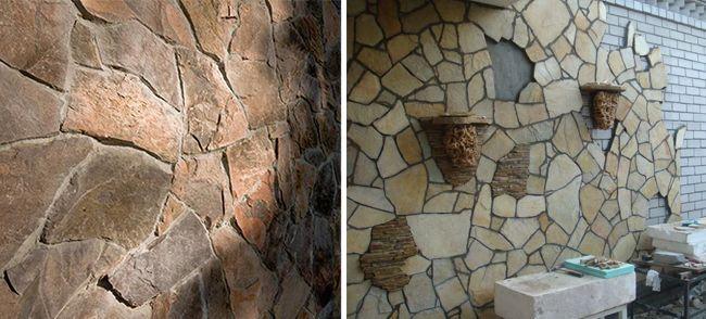 Технология отделки камнем фасада дома