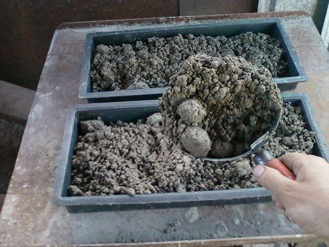 Изготовление цементной смеси для реалистичных камней