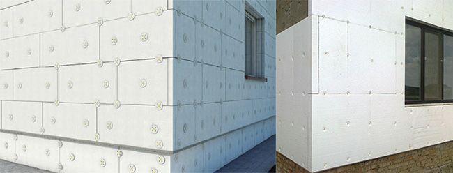 Укладка плит в углах здания производится встык