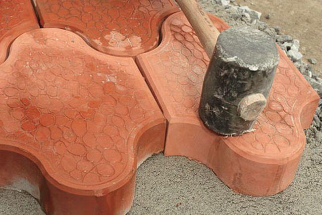 Укладка на песчано-цементную смесь