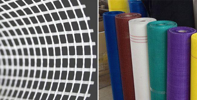 Как выглядит фасадная сетка из стеклоткани