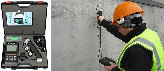 Прозвучивание бетонной конструкции