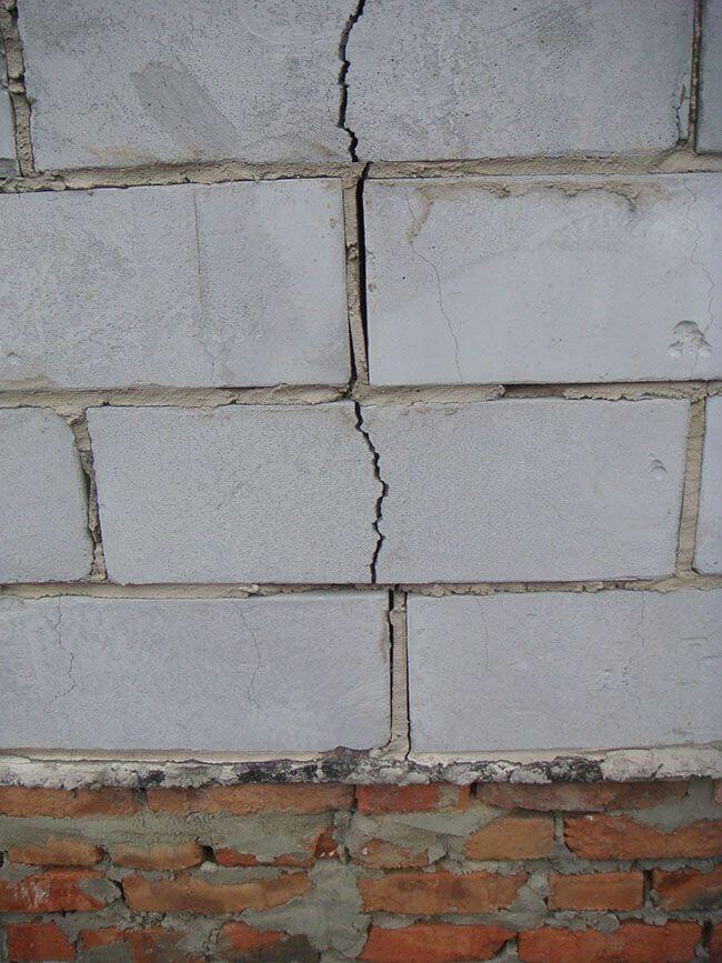 Усадочные трещины ячеистых блоков