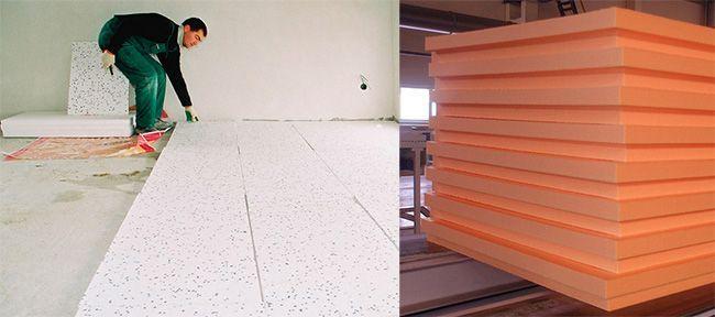 Производить утепление бетонного пола пенополистиролом быстро и просто