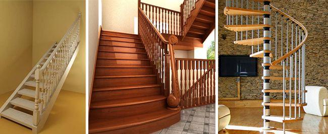 Прямая, маршевая и винтовая лестница