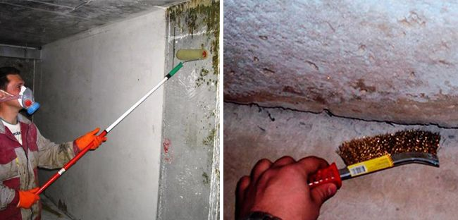 Важно тщательно очистить все поверхности и трещины