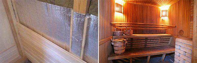 Между деревянной обшивкой и теплоизоляцией образуется вентиляционный зазор