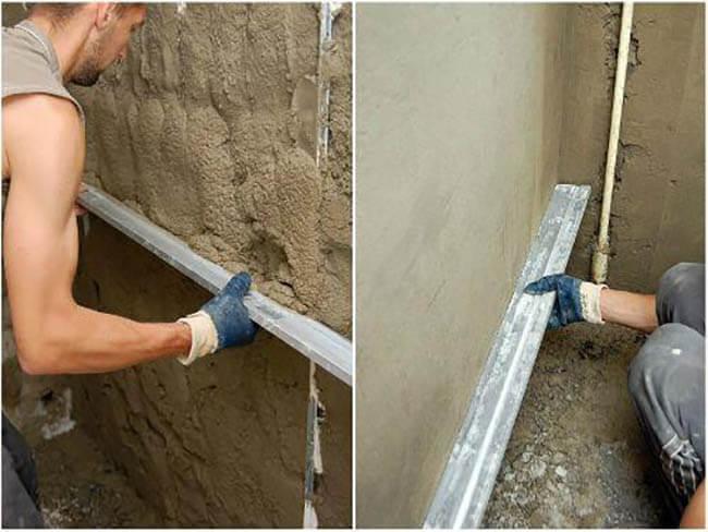 Вытягивание бетоном цоколя здания
