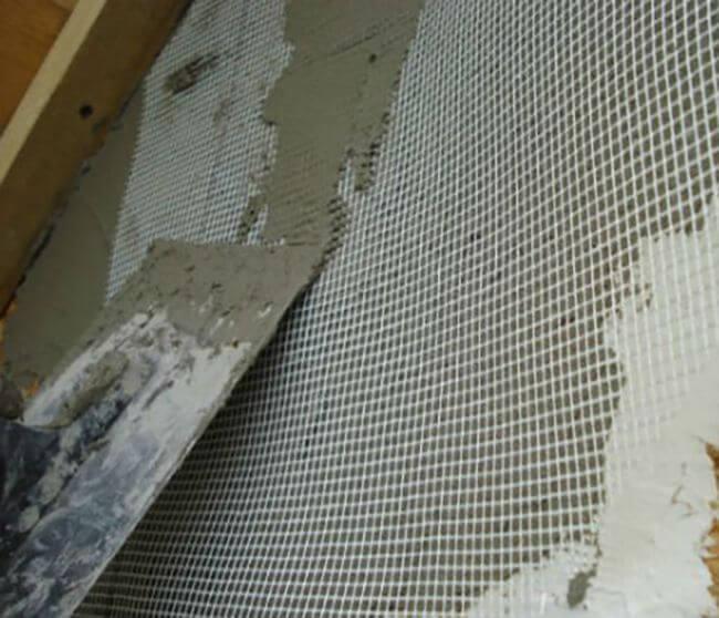 Крепление армосетки на стене